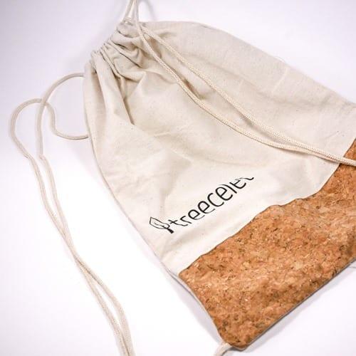 Turnbeutel aus Baumwolle und Kork