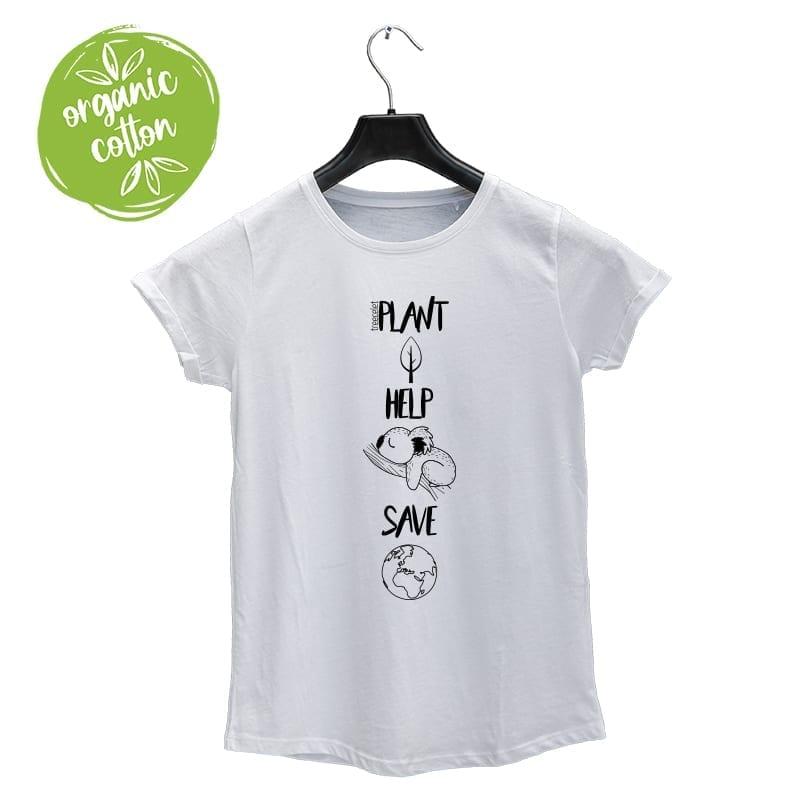 T-Shirt für Damen – Plant, Help, Save