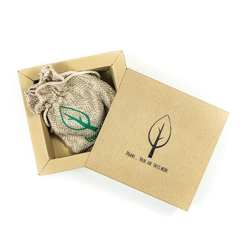Ultimativer Viererpack – Baumpaket + Geschenkverpackungen